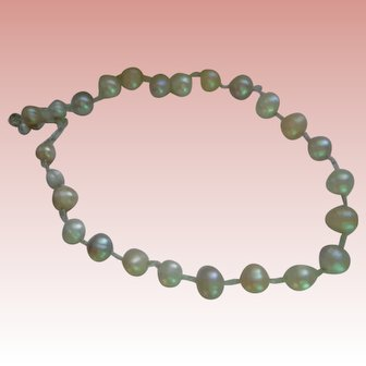 Natural Freshwater Baroque Pearls set in Sterling Silver