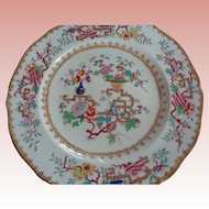 """Antique Minton Porcelain Plate """"Chinese Tree"""" 1820"""