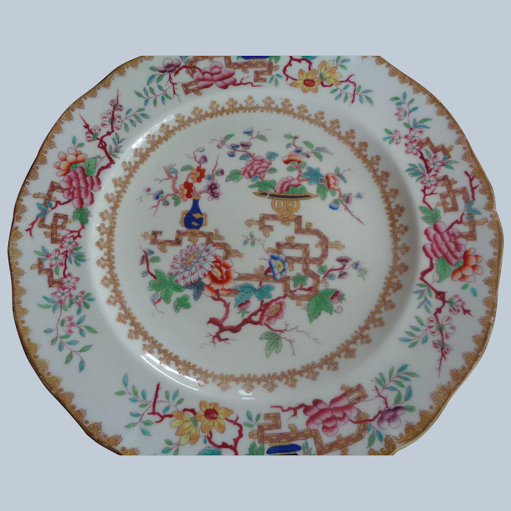 Minton Porcelain Plate Chinese Tree