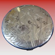 Art Nouveau (1890-1910) Compact in Sterling (950) Silver, Boxed