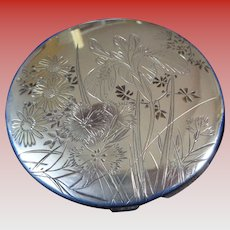 SALE $100 OFF Art Nouveau (1890-1910) Compact in Sterling (950) Silver, Boxed