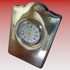 SALE 50% OFF Sweet Sterling Silver Table Clock English Hllmarked