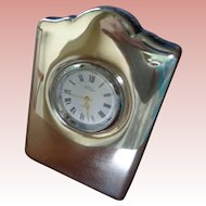 Sweet Sterling Silver Table Clock English Hllmarked