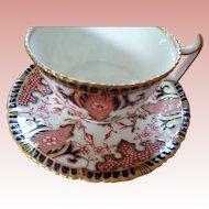 Royal Crown Derby Porcelain Cup & Saucer Imari King Pattern
