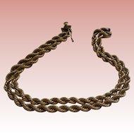 """Vintage Fine Twin Rope 14K Bracelet, 8 """" 25g OFFERS"""