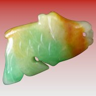 Chinese Jade Koi Pendant/Charm Early 1900's