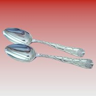 Pair of Tiffany Sterling Silver Serving Spoons 180 g