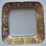 Beautiful Painted Flowers with Gilt Royal Chelsea English Plate