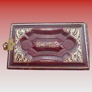 Miniature Victorian Leather Photo Album 1880