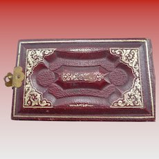 Miniature Victorian Leather Photo Album 1880