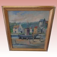 Beautiful Oil Painting by Renown Artist Eric Ward of St. Ives Cornwall
