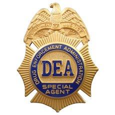 Unused DEA Special Agent Identification Badge and Case