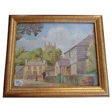 Vintage English Watercolor Cornwall England 1940