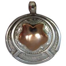 Gold + Silver Watch Fob/Charm Birmingham  1913