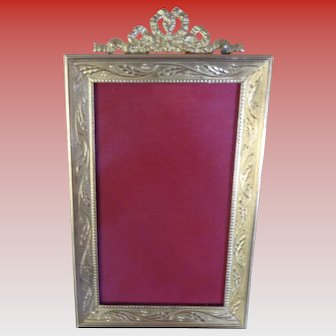 Vintage French Gilt Bronze Frame Early 1900's