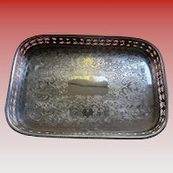 SALE 50% OFF English Heavy Silver Plated Gallery Serving Tray