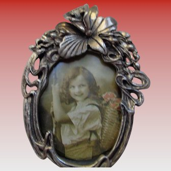 Adorable Sterling Silver Photo Frame and Brooch/Pin
