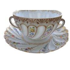 Dresden Helena Wolfsohn Porcelain Cup/Saucer 1880-1891 Mark