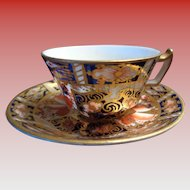 Miniature Royal Crown Derby Cup/Saucer 1937-1938