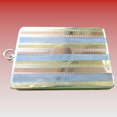 Vintage Tri-Color Silver/Gold Pendant for Two Photos