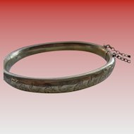 English Rolled Gold Bangle Bracelet 1930-40