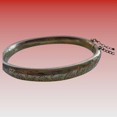 English Rolled Gold Bangle Bracelet 1930-40