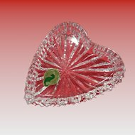 Sweet Waterford Crystal Heart Dish