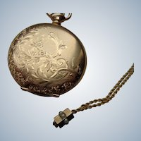 Ladies Hunter Case Pocketwatch 14K G.F. Waltham 1902