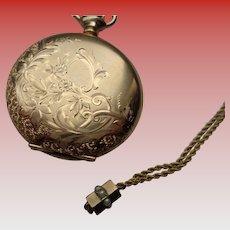 Ladies Hunter Case Pocketwatch 14K G.F. Waltham 1902