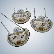 English Porcelain Wine Neck Labels (3)