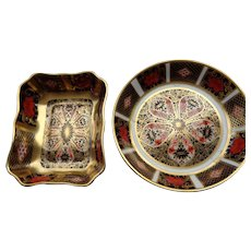 SALE 25% OFF Royal Crown Derby Old Imari Pin Dishes