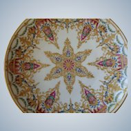 Royal Vienna Style Porcelain Plate, Hand-Painted + Heavy Gilding