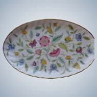 4 Minton Oval Porcelain Trays Haddon Hall Pattern