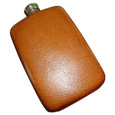 Vintage Leather Flask c. 130 Made in England