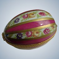 Vintage Limoges Hand-Painted Egg