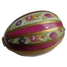 Vintage Limoges Hand-Painted Egg
