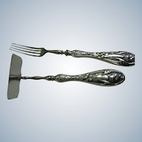 Sterling Silver Handle Baby Set: Fork and Pusher