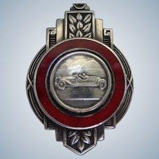 Sterling & Enamel Bugatti Racing Medal