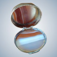 Double Banded Agate Box with Brass