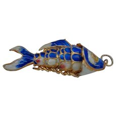 Cloissone Enamel Fish Pendant, Reticulated