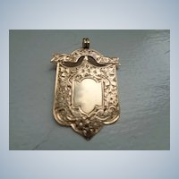 Superb Antique Victorian Rose Gold Fob/Pendant, Hallmarked 1897