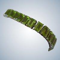 SALE $100 OFF Genuine Peridot Bracelet Set in Sterling Silver 40 Carets