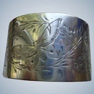 Antique English Sterling Napkin Ring Hallmarked 1889