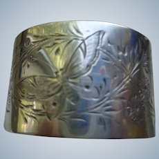 Antique English Sterling Napkin Ring Hallmarked 1889