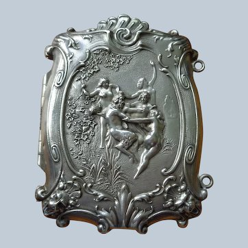 Magnificent Art Nouveau Sterling Cigarette/Card Case