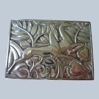 Art Deco Card/Cigarette Case in Sterling Silver 1930