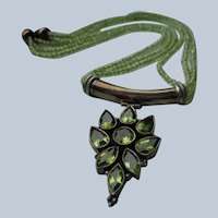 Peridot Necklace and Earrings in Sterling Silver