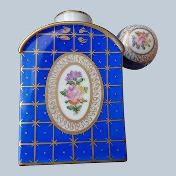 Dresden Porcelain Tea Caddy/Potpourri Bottle