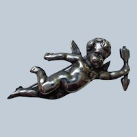Sterling Silver Cherub Pin/brooch with Arrow