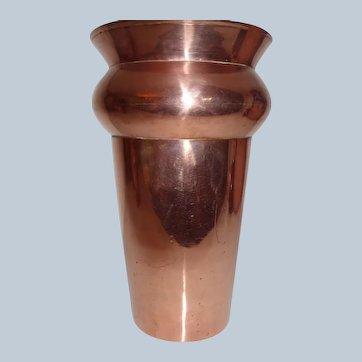 Hand-Crafted Copper Vase Arts & Crafts Era English 1880-1920